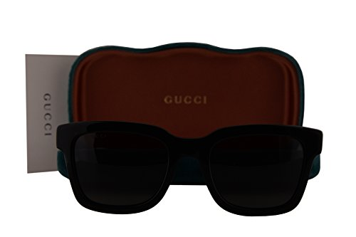 Gucci GG0001S Sunglasses Black w/Smoke Grey Lens 001 GG - Case Gucci Sunglasses