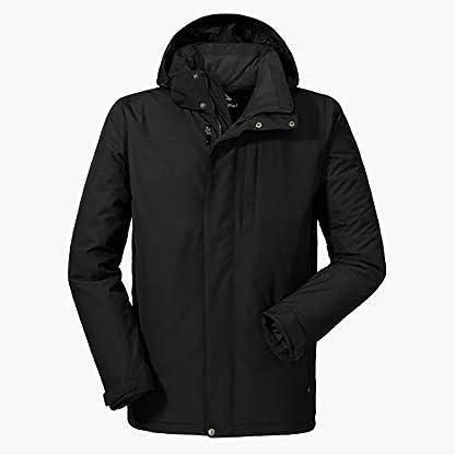 Schöffel Insulated Jacket Belfast2, wind- und wasserdichte Winterjacke, warme und atmungsaktive Outdoor Jacke mit höchstem Tragekomfort Herren, black, 48 1