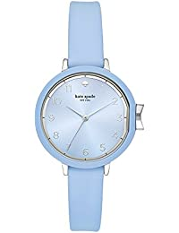 Women's 'Park Row' Quartz Stainless Steel and Silicone Casual Watch, Color:Blue (Model: KSW1445)