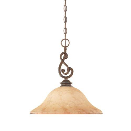 Designers Fountain 81832-FSN Mendocino Down Pendant - Forged Bronze Six Light Pendant
