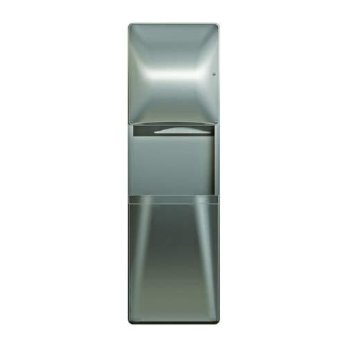 Bradley 2A05-1036 Semi-Recessed Paper Towel Dispenser/Waste Receptacle 18 GAL Diplomat