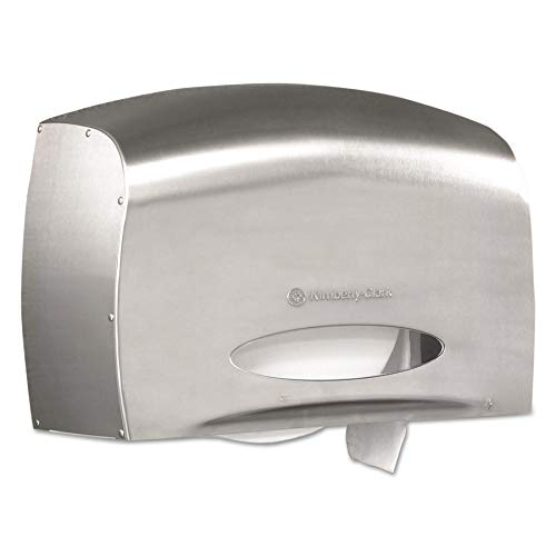 Kimberly-Clark Professional 09601 Coreless JRT Jr. Bath Tissue Dispenser, EZ Load, 6x9.8x14.3, Stainless Steel