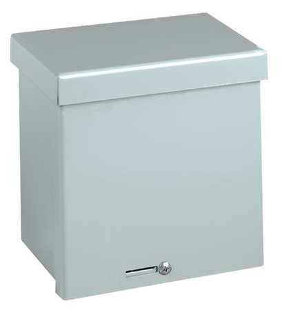 Wiegmann RSC060804G RSC-Series NEMA 1/3R Wall-Mount Enclosure with Lift-Off Screw Cover and Knockouts, Galvanized Steel, 8'' x 6'' x 4''