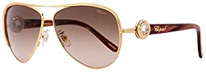 Chopard Designer Sunglasses SCHA60S-08MG in Gold with Rose-Gradient Lens