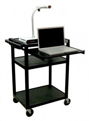 LUXOR LP34LE-B Presentation Cart, Black