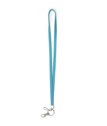 - WigsPedia Deluxe Durable PU Leather Necklace Lanyard for ID badge holder, Key fob Cell Phone, Key, USB, Camera (Turquoise/Teal)