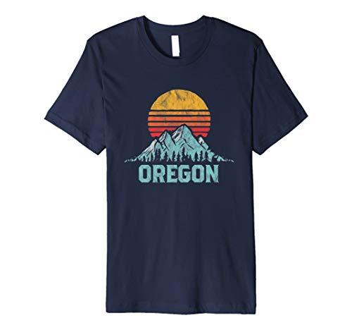 Vintage Oregon Retro Distressed Mountains Ski Tee