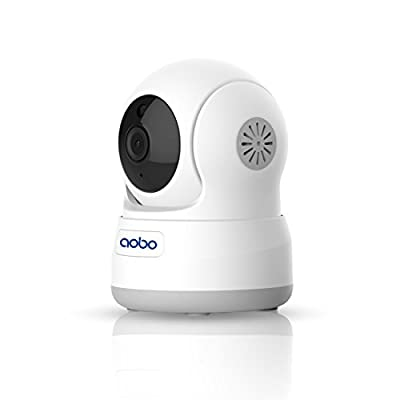 AOBO WiFi IP Camera 720P Pan/Tilt Indoor Nanny Cam Surveillance Home Security Camera System with IR-cut Night Vision/Motion Detection from Aobo en Technology