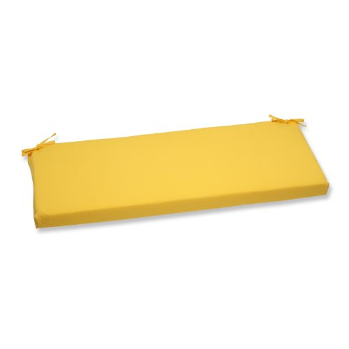 Pillow Perfect Outdoor Fresco Yellow Bench Cushion