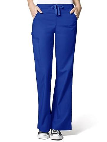 WonderWink Women's Wonderflex Grace Scrub Pant, Royal, XX-Large/Petite
