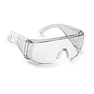 ARZONAI Safety Goggles Transparent Medical Protective Glasses (LARGE)