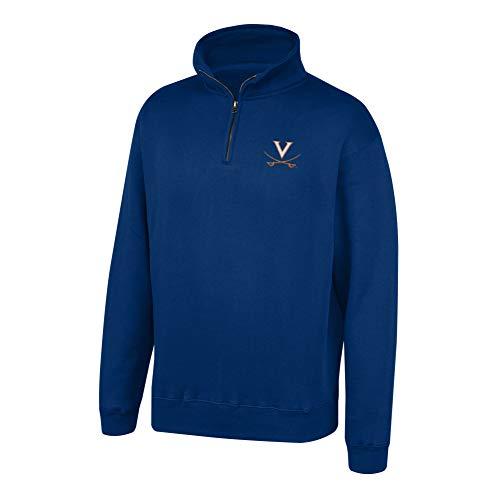 Top of the World NCAA Men's Virginia Cavaliers Team Color Classic Quarter Zip Pullover Navy X Large (Virginia Pullover)
