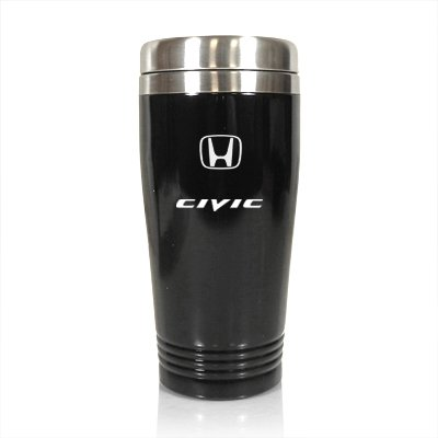 Honda Civic 14oz Black Stainless Steel Travel Mug