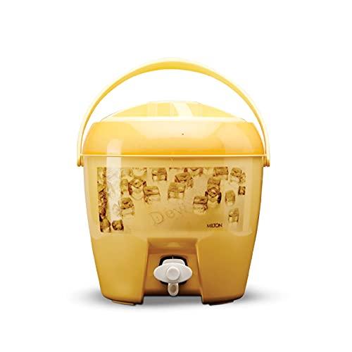 MILTON Kool Dew Insulated Plastic Water Jug  5 L, Yellow