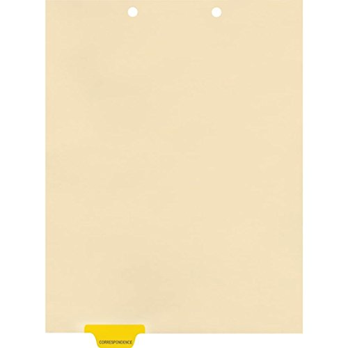 Medical Arts Press Match Colored End Tab Chart Dividers- Correspondence, Position 2 (100/Pkg) (56800)