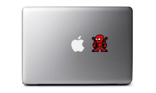 8-Bit Deadpool Decal for MacBook, iPad Mini, iPhone 5S, Samsung Galaxy S3 S4, Nexus, HTC One, Nokia Lumia, Blackberry (Samsung Galaxy S3 Mini Decal compare prices)
