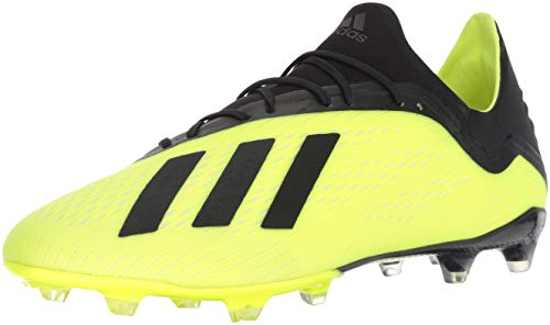 adidas Men's X 18.2 Firm Ground Soccer Shoe, Solar Yellow/Black/White, 13 M US