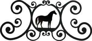 Village Wrought Iron 24 Inch Horse Over Door Plaque by Village Wrought Iron