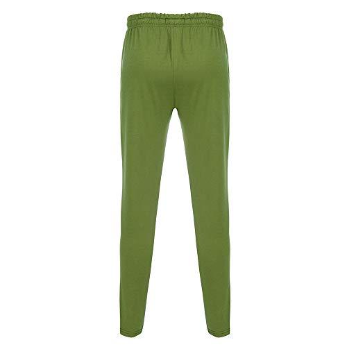 Vert Pantalon Sport Hommespantalon Rayé De Couture Amuster Hommes Casual Mode Élastique ZaU61x