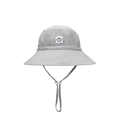 Baby Sun Hat Smile Face Toddler UPF 50+ Sun Protective Bucket hat Nice Beach hat for Baby Girl boy Adjustable Cap