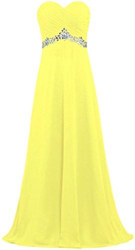Yellow Prom Long Dress Dresses Women's Bead Bridesmaid Bridal Chiffon Anna's RUx1AavqR