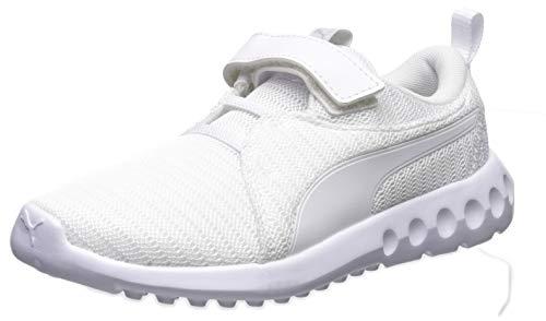 PUMA Unisex Carson 2 Velcro Sneaker, white-white, 1.5 M US Little Kid]()