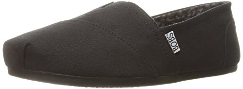 Skechers BOBS From Women's Plush - Peace and Love Flat, Black, 9.5 W US