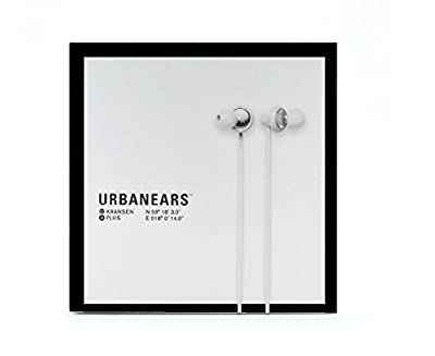Urbanears Kransen Plus Earphones iPod/iPhone Earbuds Headphones Mic Remote (White 04090929)