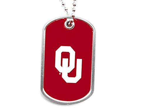 aminco NCAA Oklahoma Sooners Domed Dog Tag, Team Color, 4