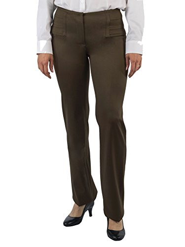 [CoSTUME NATIONAL Women's Woven Wool Blend Pants (4) (Brown)] (Costumes National Womens Clothing)