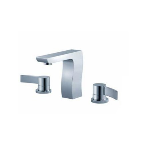 Fluid Faucets F1216BN Swing Roman Bathtub Faucet without Diverter and Hand shower, Brushed Nickel, 1-Pack