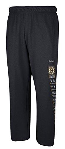 Reebok Men's NHL Boston Bruins Swipe Tech Fleece Sweatpants Black Size X-Large