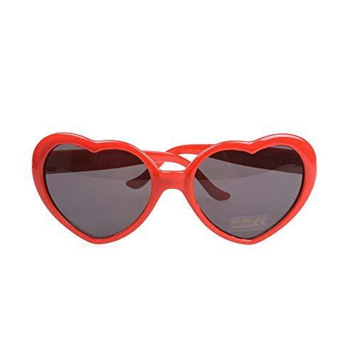 (Fashion Large Women Lady Girl Oversized Heart Shaped Retro Sunglasses Cute Love Eyewear)
