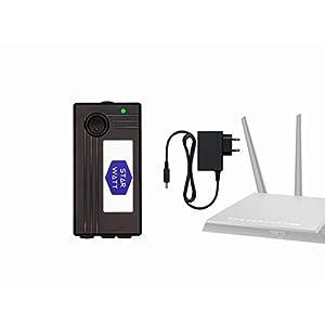 STARWATT WiFi Router UPS Dual 12V 1A + 12V 1A Output with 12V Adaptor for Router, Intercom, Set-top Box
