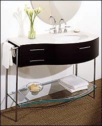 Porcher Closeout 31240-00.000 Dune Glass Shelf For Dune Console Furniture Kit