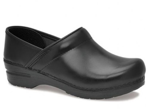 Blk Cabr Dansko Women's Professional Box Leather Clog
