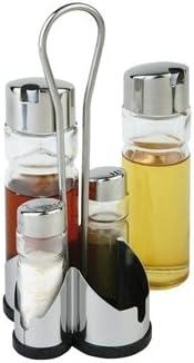 Servicio de mesa - juego de salero, pimentero, Vinagrera, aceite ...