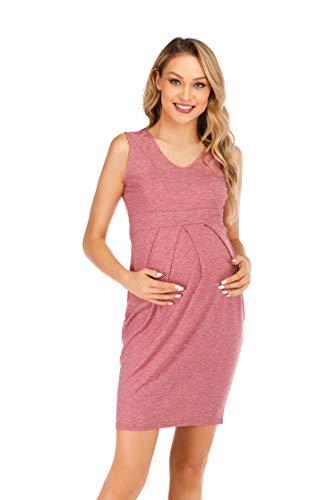 MARI CIAS Bodycon Pregnancy Outfits for Photography (2XL, Pink)