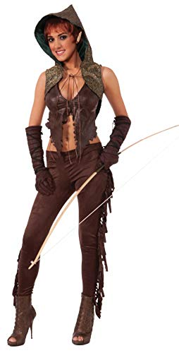 Forum Novelties Women's Medieval Fantasy Elf Hunter Costume, Brown, One Size -