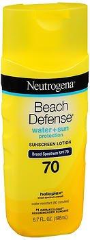 Neutrogena Beach Defense Lotion SPF 70 - 6.7 oz, Pack of 4