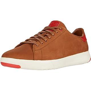 Cole Haan Grandpro Tennis Sneaker New Tan Nubuck/Flame Scarlet 8.5
