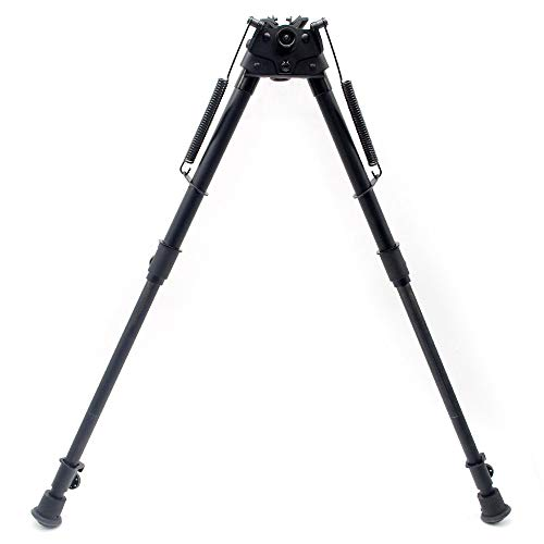 - TRIROCK Pivot Swivel Title Bipod with Posi-Lock Adjustable Spring Loaded 13 to 27 Inch with Quick retraction Button