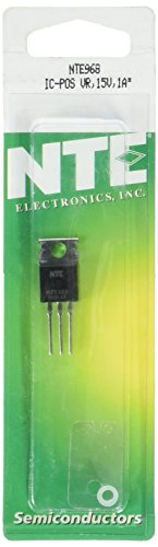 NTE Electronics NTE968 Integrated Circuit 3-Terminal Positive Voltage Regulator, TO-220 Package, 1 Amp Output Current in Excess, 15V Output Voltage (Nte Regulator Voltage)