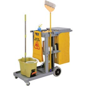 (Global Janitor Cleaning Cart - Gray - Gray)
