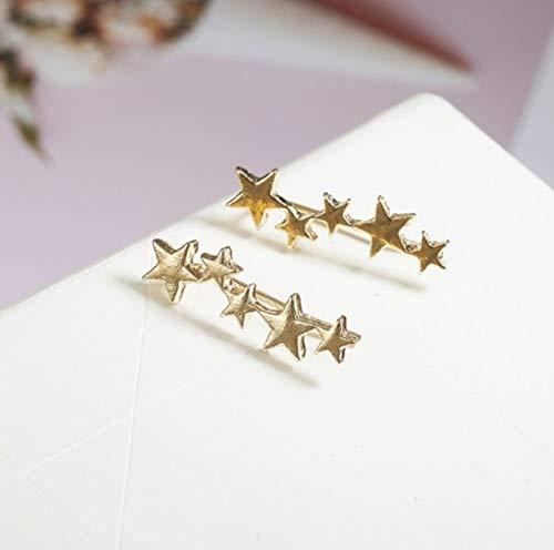 Earrings Gift Aitu Silver Orecchini Little Fashion Glass Golden Jewelry Ear d A Design Cute Stars 7n7BtqRU