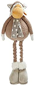 "ROCK MY BABY Plush Brown Sheep Extendable Legs from 24"" to 40"" Tall Toy Home/Stores/Kids Room Party Decor Ornament Fun Gift Grow with Me (Brown Sheep)"