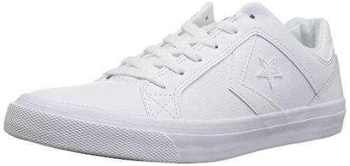 Converse EL Distrito Leather Low TOP Sneaker, White/Dolphin, 9 M US (Converse Women Leather)