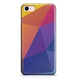Loud Universe iPhone 7 Case Geomaterical Vibrant Color Pattern Low Profile Light Weight Wrap Around iPhone 7 Cover