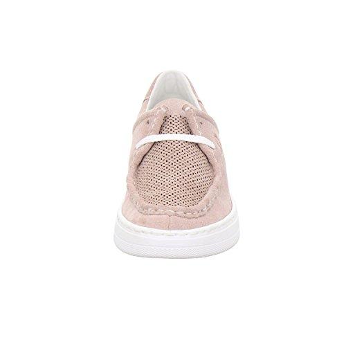 Rieker 50407-31 - Zapatos de cordones para mujer Rosa