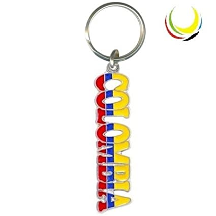 Colombia Flag Name Keychain